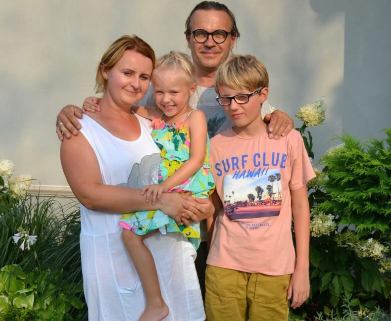 Właściciele domu Adriana i Igor wraz z dziećmi