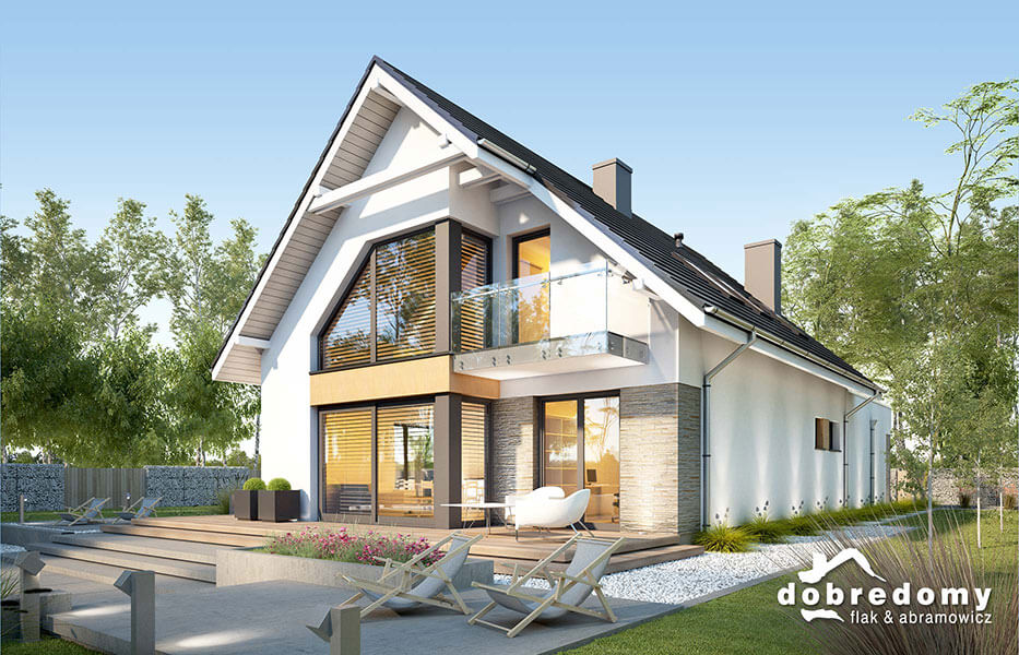Projekty domów z poddaszem
