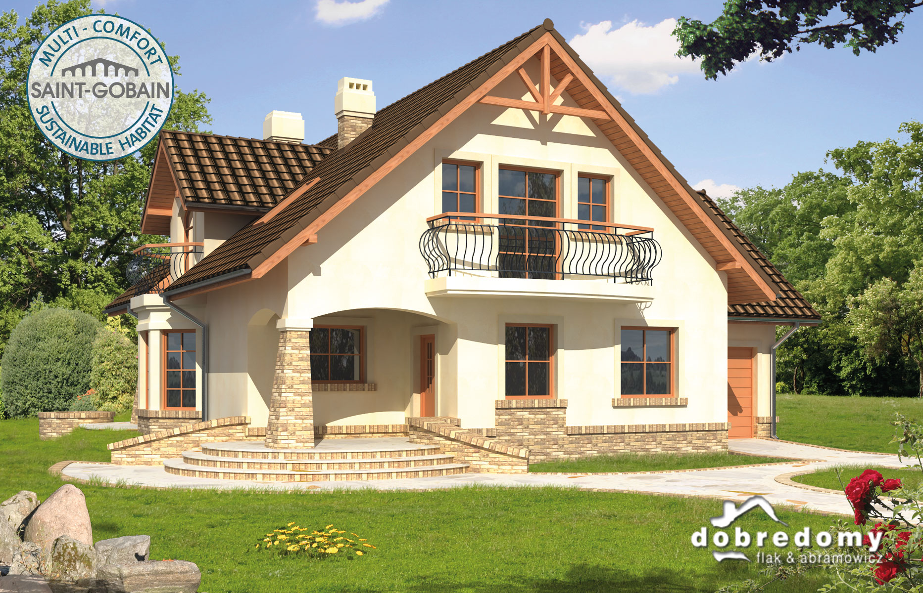 Finished house plans fa aridela i ce - dom.pl.