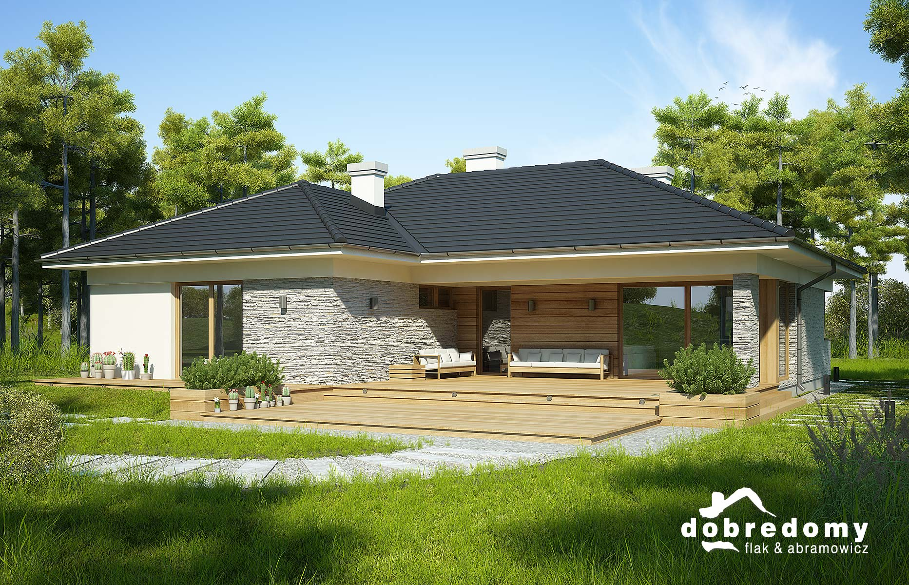 Projekty Domów Bez Garażu Dobre Domy Flak Abramowicz