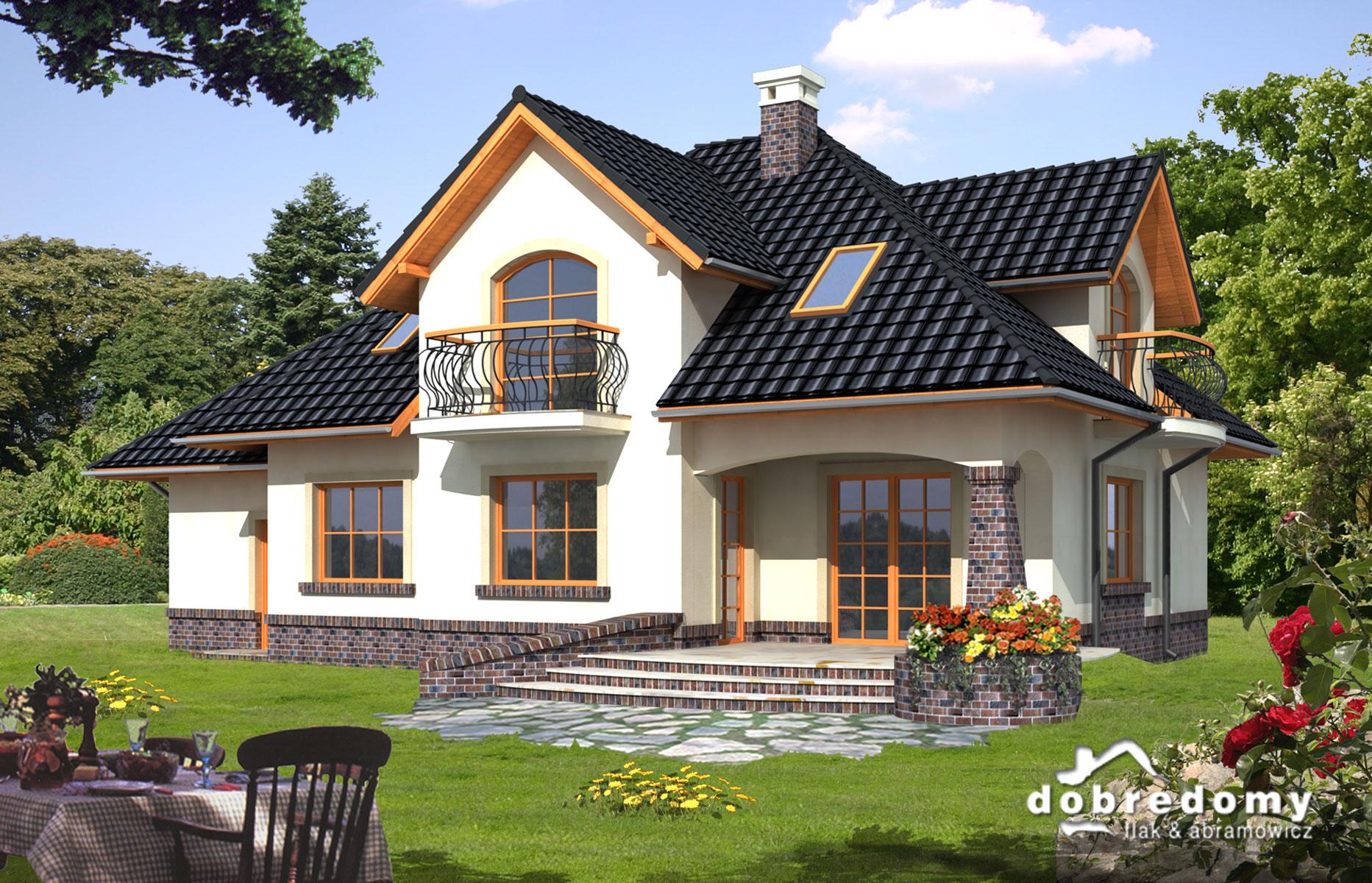 Красивые дома с мансардой фото