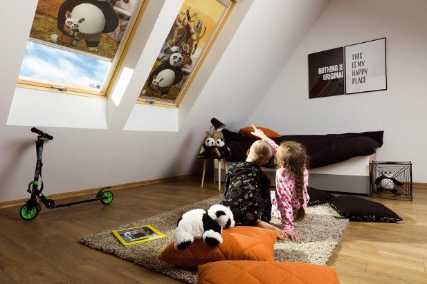 pokój dziecięcy na poddaszu